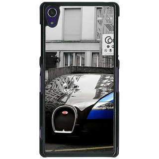 1 Crazy Designer Super Car Bugatti Back Cover Case For Sony Xperia Z1 C470627