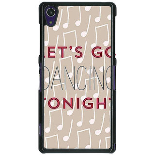 1 Crazy Designer Dancing Quote Back Cover Case For Sony Xperia Z1 C470818