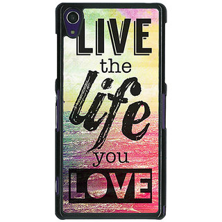 1 Crazy Designer Life Quote Back Cover Case For Sony Xperia Z1 C470819