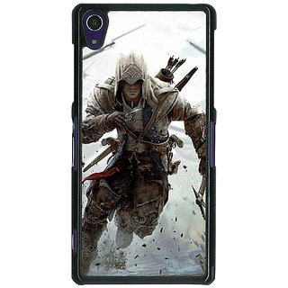 1 Crazy Designer Assassins Creed Back Cover Case For Sony Xperia Z1 C470841