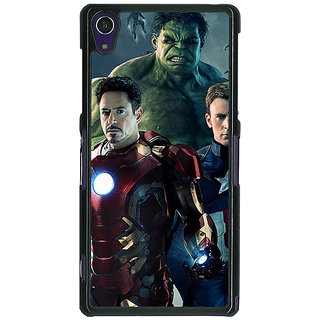 1 Crazy Designer Super Heroes Avengers Age of Ultron Back Cover Case For Sony Xperia Z1 C470844