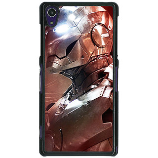 1 Crazy Designer Superheroes Ironman Back Cover Case For Sony Xperia Z1 C470865