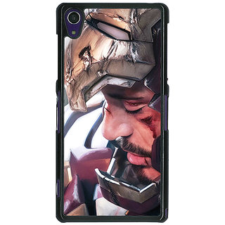 1 Crazy Designer Superheroes Ironman Back Cover Case For Sony Xperia Z1 C470867