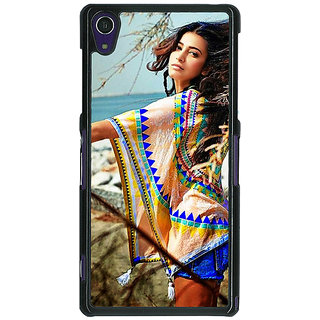 1 Crazy Designer Bollywood Superstar Shruti Hassan Back Cover Case For Sony Xperia Z1 C471071