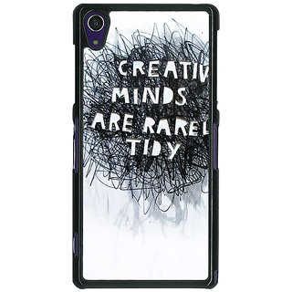 1 Crazy Designer Quote Back Cover Case For Sony Xperia Z1 C471356