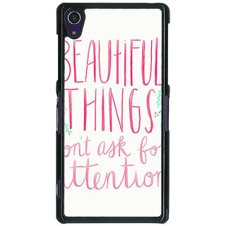 1 Crazy Designer Beautiful Quote Back Cover Case For Sony Xperia Z1 C471367