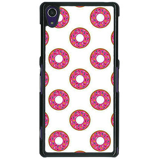 1 Crazy Designer Donut Pattern Back Cover Case For Sony Xperia Z1 C471384