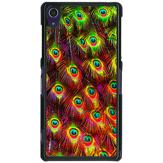1 Crazy Designer Paisley Beautiful Peacock Back Cover Case For Sony Xperia Z1 C471598