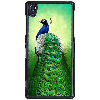 1 Crazy Designer Paisley Beautiful Peacock Back Cover Case For Sony Xperia Z1 C471599