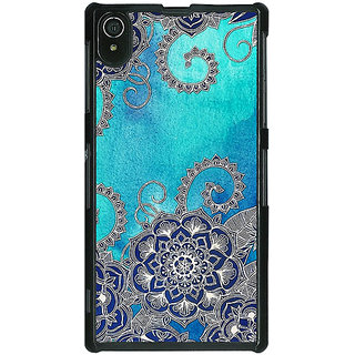 1 Crazy Designer Blue Doodle Pattern Back Cover Case For Sony Xperia Z2 C480209
