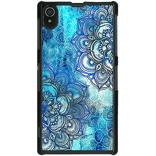 1 Crazy Designer Blue Floral Doodle Pattern Back Cover Case For Sony Xperia Z2 C480211