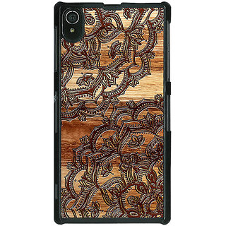 1 Crazy Designer Black Brown Doodle Pattern Back Cover Case For Sony Xperia Z2 C480213