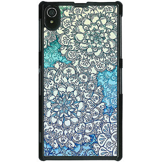 1 Crazy Designer Floral Blue Pattern Back Cover Case For Sony Xperia Z2 C480228