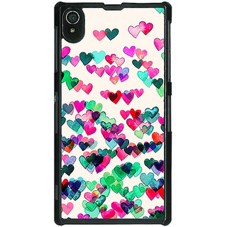 1 Crazy Designer Hearts in the Air Pattern Back Cover Case For Sony Xperia Z2 C480233