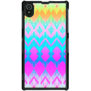 1 Crazy Designer Psychdelic Triangles Pattern Back Cover Case For Sony Xperia Z2 C480248