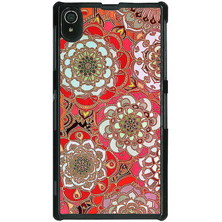 1 Crazy Designer Orange Flowers Pattern Back Cover Case For Sony Xperia Z2 C480258