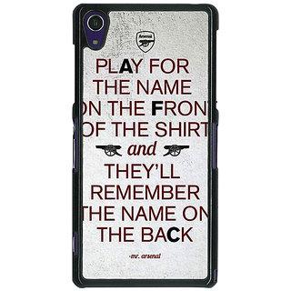 1 Crazy Designer Arsenal Back Cover Case For Sony Xperia Z1 C470512