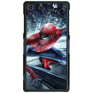 1 Crazy Designer Superheroes Spiderman Back Cover Case For Sony Xperia Z1 C470873