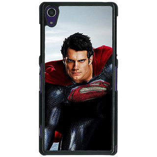 1 Crazy Designer Superheroes Superman Back Cover Case For Sony Xperia Z1 C470879