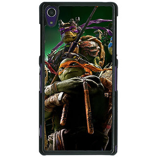 1 Crazy Designer Ninja Turtles Back Cover Case For Sony Xperia Z1 C470888