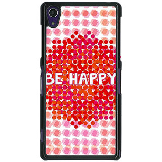 1 Crazy Designer Quotes Happy Back Cover Case For Sony Xperia Z1 C471154