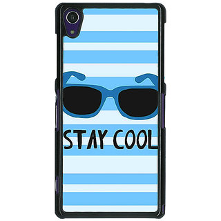1 Crazy Designer Quotes Stay Cool Back Cover Case For Sony Xperia Z1 C471164