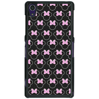 1 Crazy Designer Minnie Mouse Pattern Back Cover Case For Sony Xperia Z1 C471386