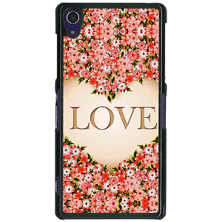 1 Crazy Designer Love Floral Back Cover Case For Sony Xperia Z1 C471419