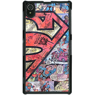 1 Crazy Designer Superheroes Superman Back Cover Case For Sony Xperia Z2 C480044