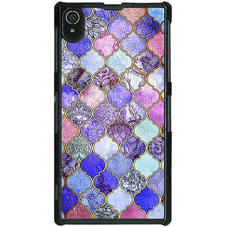 1 Crazy Designer Purple Moroccan Tiles Pattern Back Cover Case For Sony Xperia Z2 C480291