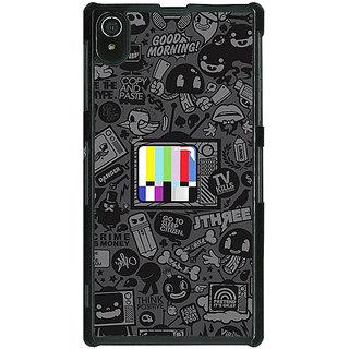1 Crazy Designer Colour TV Back Cover Case For Sony Xperia Z2 C480835