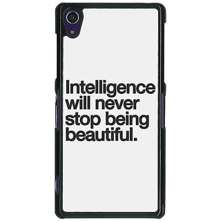 1 Crazy Designer Quotes Intelligence Beautiful Back Cover Case For Sony Xperia Z1 C471186
