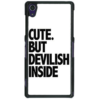 1 Crazy Designer Quote Back Cover Case For Sony Xperia Z1 C471445