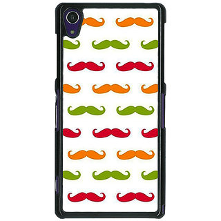 1 Crazy Designer Moustache Back Cover Case For Sony Xperia Z1 C471450