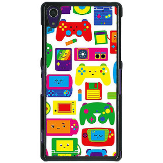 1 Crazy Designer Gamer Back Cover Case For Sony Xperia Z1 C471453