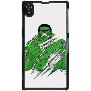 1 Crazy Designer Superheroes Hulk Back Cover Case For Sony Xperia Z2 C480326