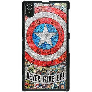 1 Crazy Designer Superheroes Captain America Back Cover Case For Sony Xperia Z2 C480334