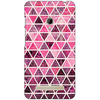 1 Crazy Designer Red Triangles Pattern Back Cover Case For Asus Zenfone 5 C490266