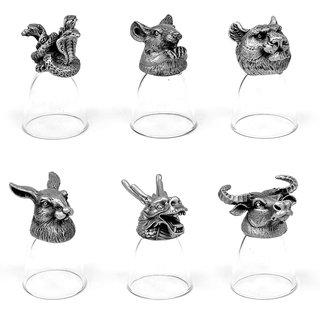 Animal Head Shot Glasses,30ml,Set of 6