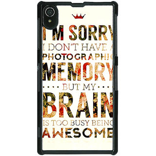 1 Crazy Designer SUITS Quotes Back Cover Case For Sony Xperia Z2 C480481
