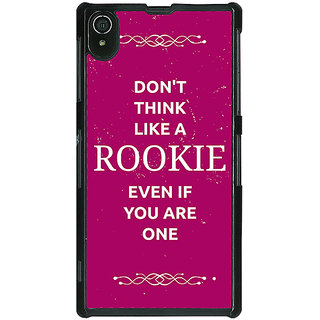 1 Crazy Designer SUITS Quotes Back Cover Case For Sony Xperia Z2 C480484