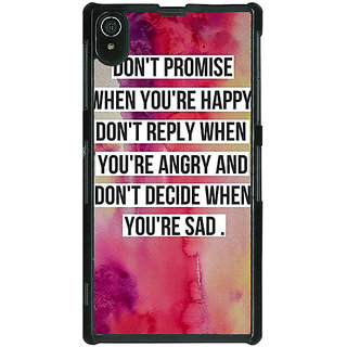 1 Crazy Designer Wise Quote Back Cover Case For Sony Xperia Z2 C481144