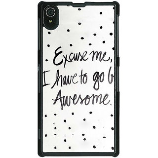 1 Crazy Designer Quote Back Cover Case For Sony Xperia Z2 C481351