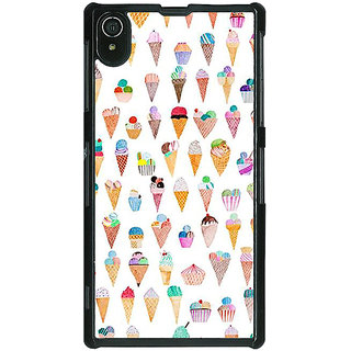 1 Crazy Designer Ice cream Doodle Back Cover Case For Sony Xperia Z2 C481358