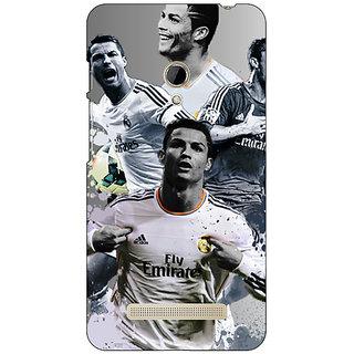 1 Crazy Designer Cristiano Ronaldo Real Madrid Back Cover Case For Asus Zenfone 5 C490307