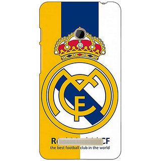 1 Crazy Designer Real Madrid Back Cover Case For Asus Zenfone 5 C490591