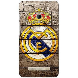 1 Crazy Designer Real Madrid Back Cover Case For Asus Zenfone 5 C490596