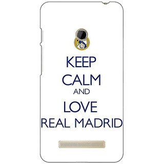 1 Crazy Designer Real Madrid Back Cover Case For Asus Zenfone 5 C490600