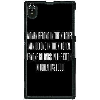 1 Crazy Designer Kitchen Quote Back Cover Case For Sony Xperia Z2 C481206