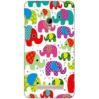 1 Crazy Designer Baby Elephant Pattern Back Cover Case For Asus Zenfone 5 C490767